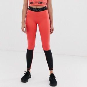 Nike Pants - Nike Training Pink Color Block Leggings